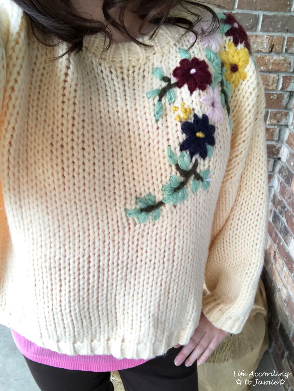Flowering Branch Chunky Knit 2