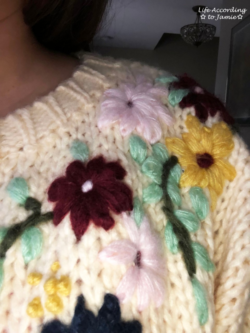 Flowering Branch Chunky Knit 5