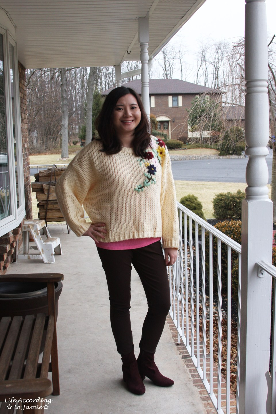 Flowering Branch Chunky Knit 6