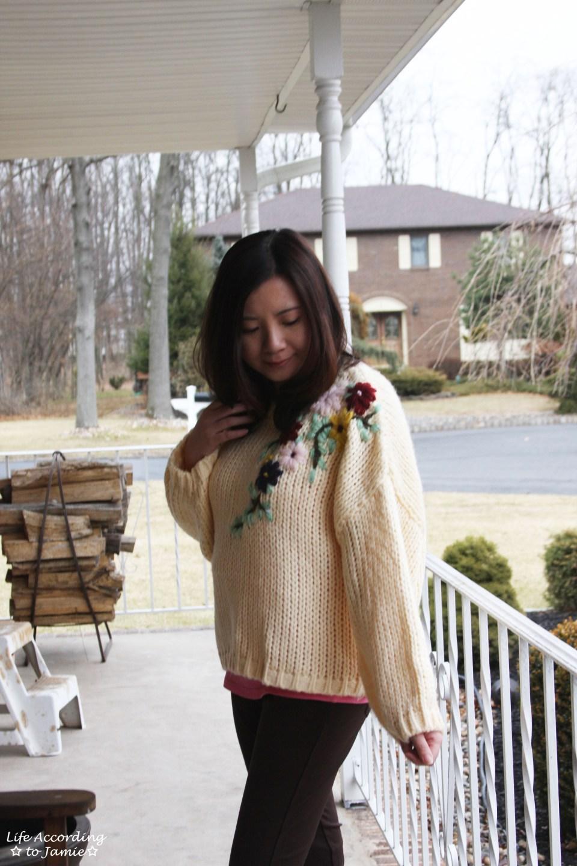 Flowering Branch Chunky Knit 8
