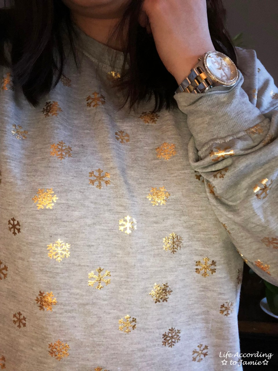 Gold Snowflake Sweatshirt 2