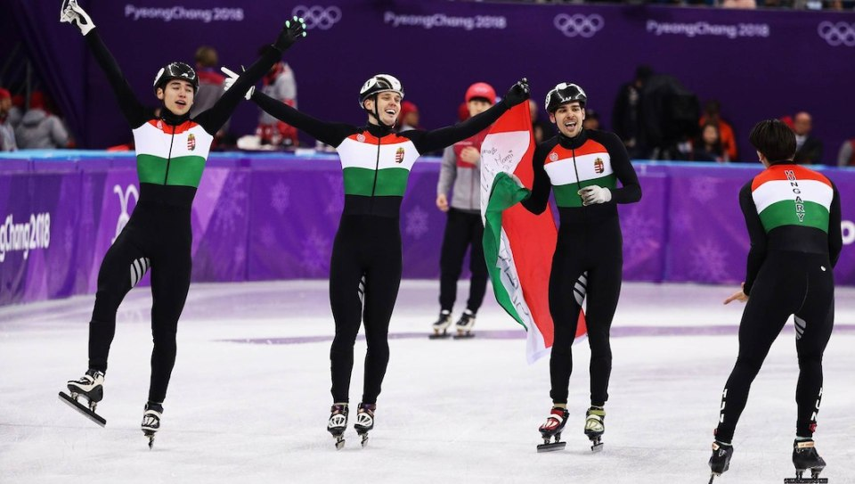 Hungary short track gold