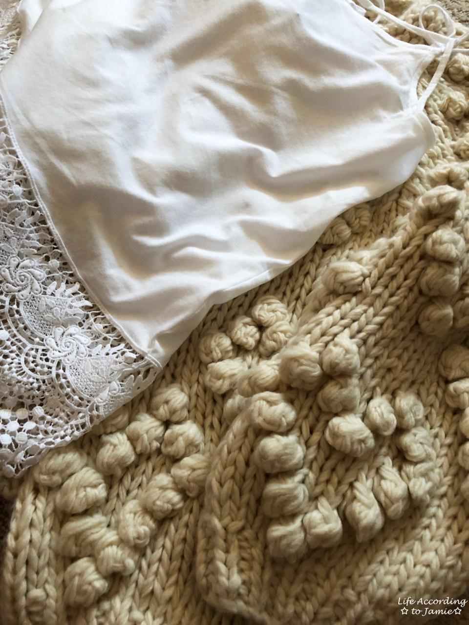 Knit Your Love Pompom Cardigan 1