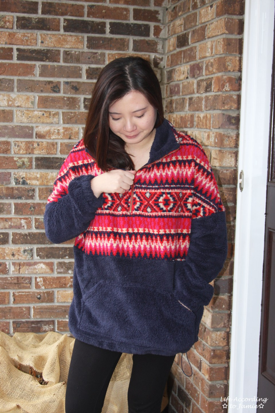 Navy & Red Pullover 7