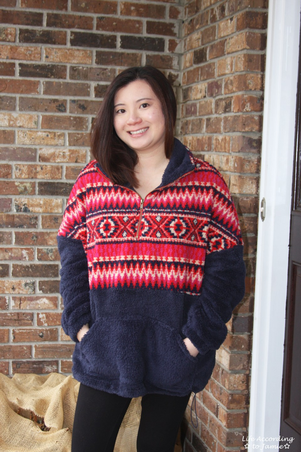 Navy & Red Pullover 9