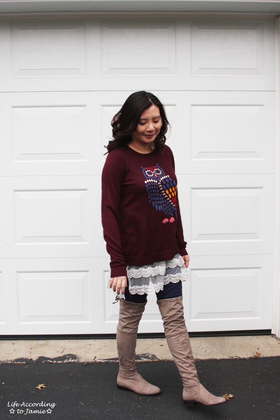 Owl Sweater + Lace Extender 7