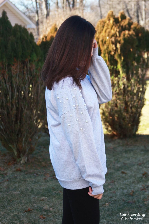Pearl Embellished Sweatshirt 8