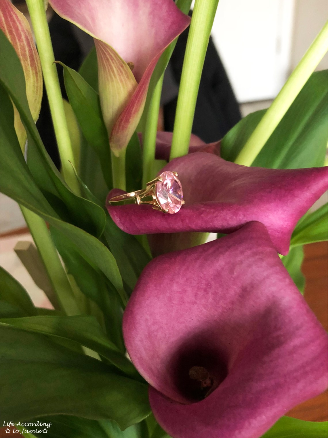 Pink Cubic Zirconia Ring