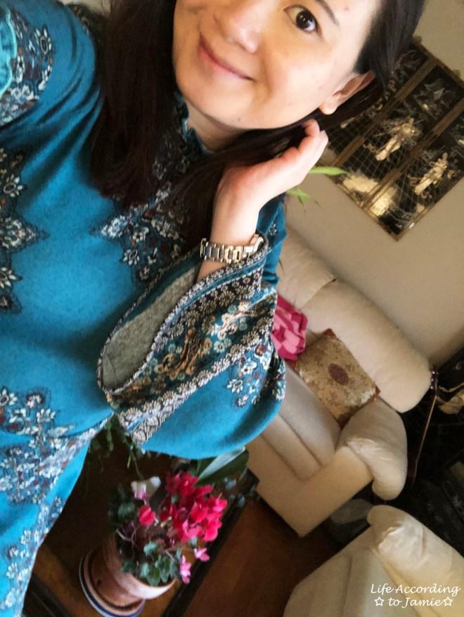 Bell Sleeve Fleece Dress 1