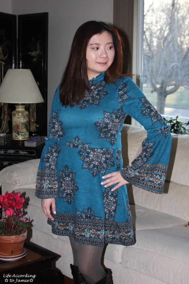 Bell Sleeve Fleece Dress 11