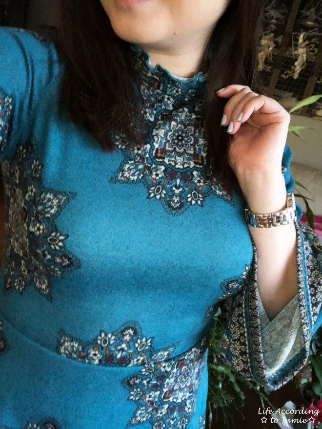 Bell Sleeve Fleece Dress 3