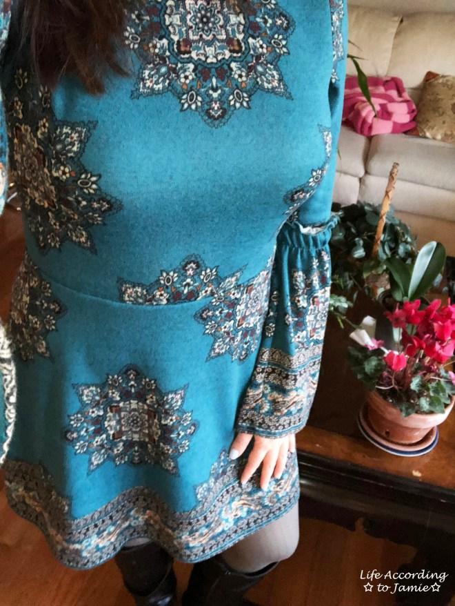 Bell Sleeve Fleece Dress 4