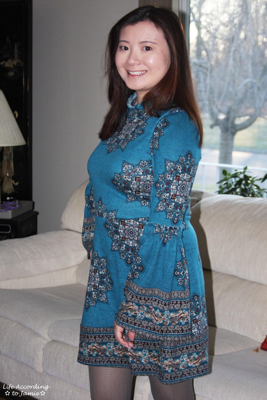 Bell Sleeve Fleece Dress 8