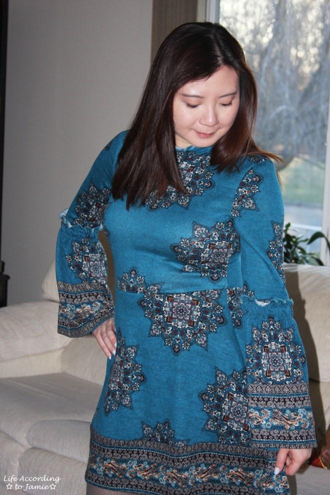 Bell Sleeve Fleece Dress 9
