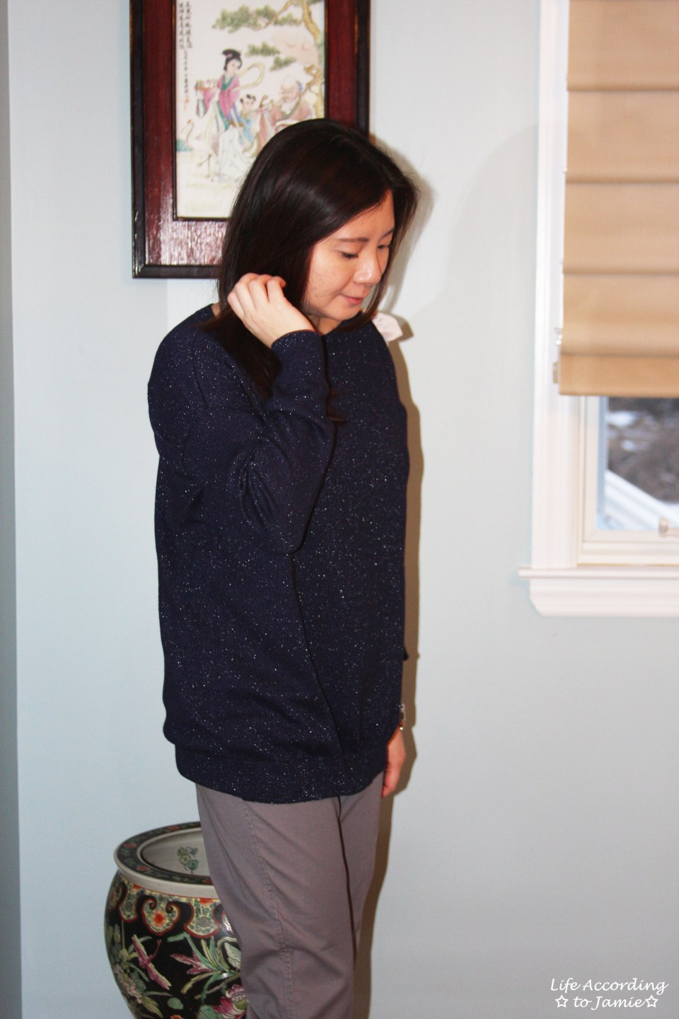 Evening Blue Bow Sweater 11