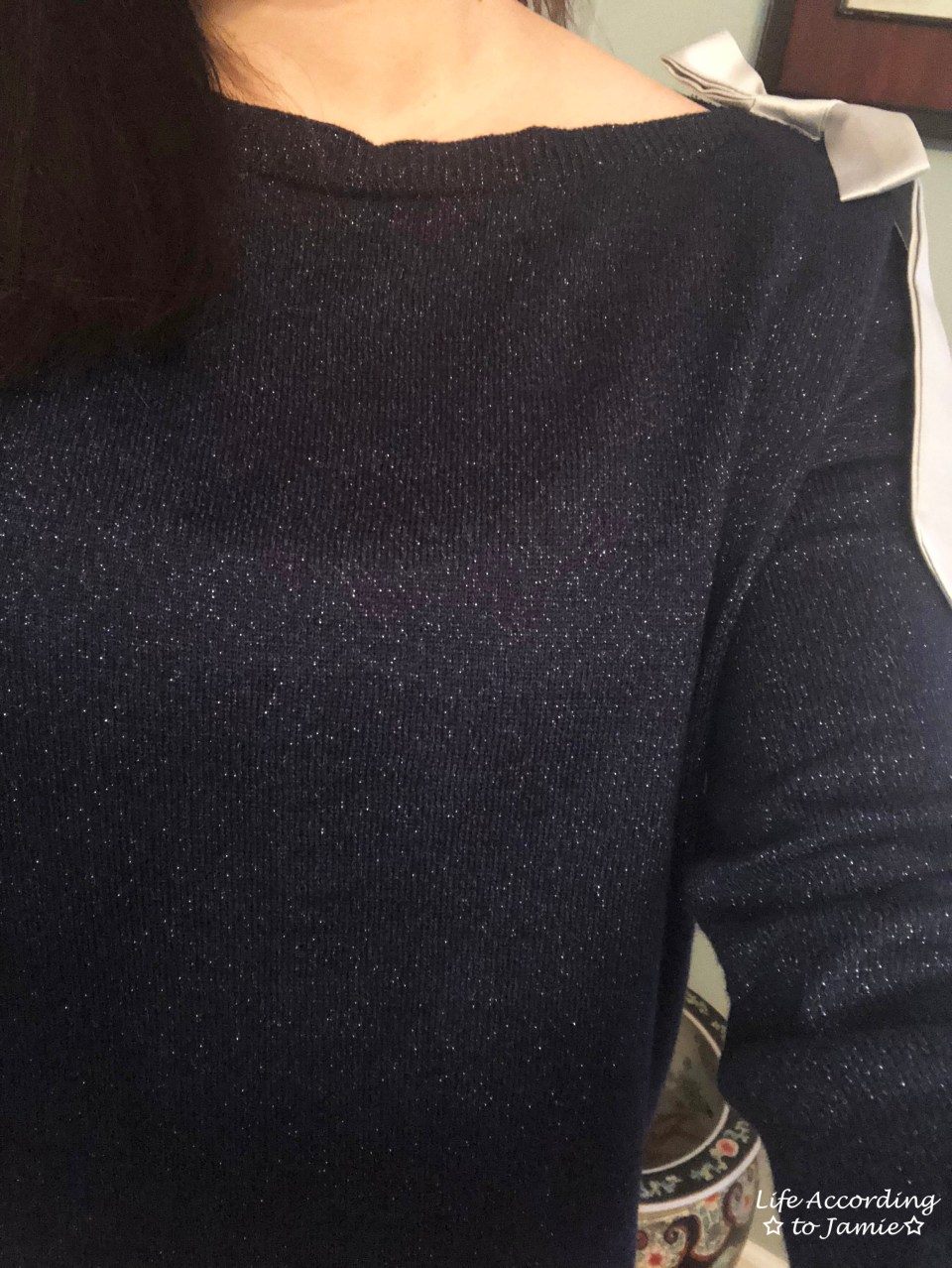 Evening Blue Bow Sweater