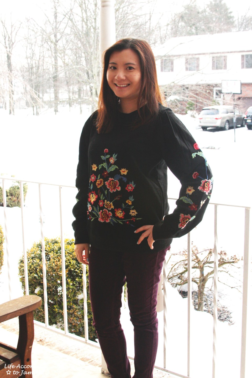 Floral Embroidered Sweatshirt 11