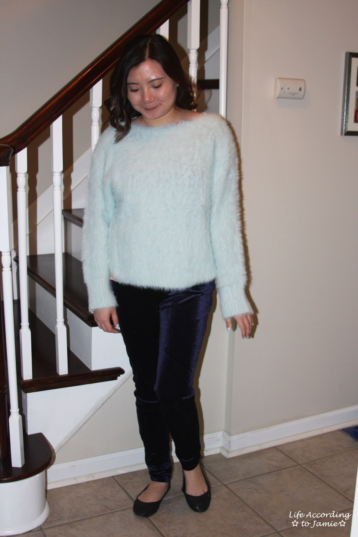 Ice Blue Fuzzy Sweater 14