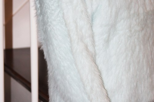 Ice Blue Fuzzy Sweater
