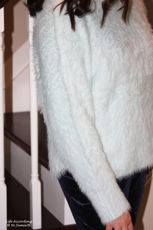 Ice Blue Fuzzy Sweater 4