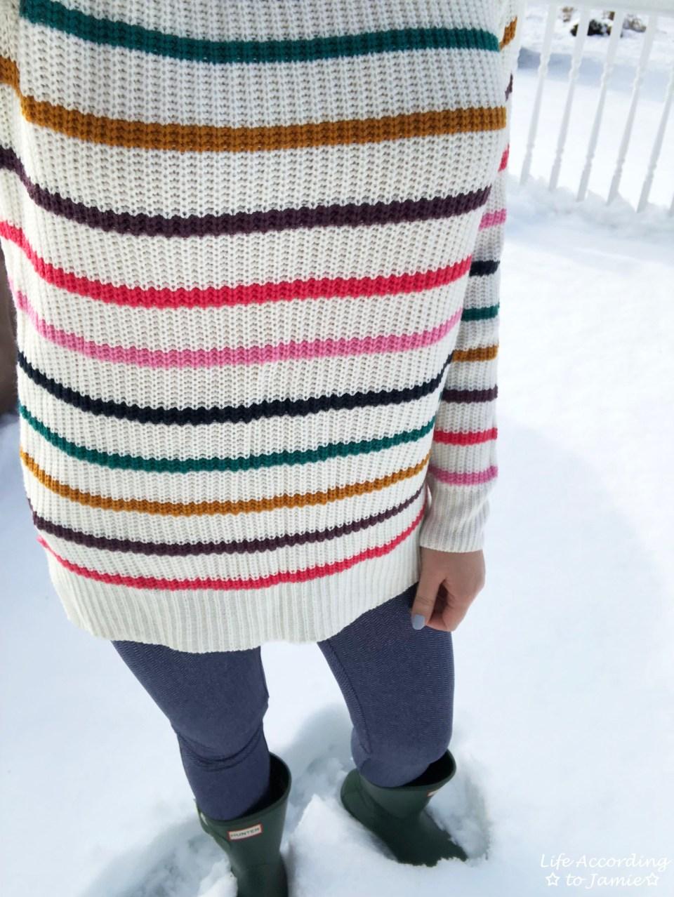 Multicolor Striped Lace-Up 3