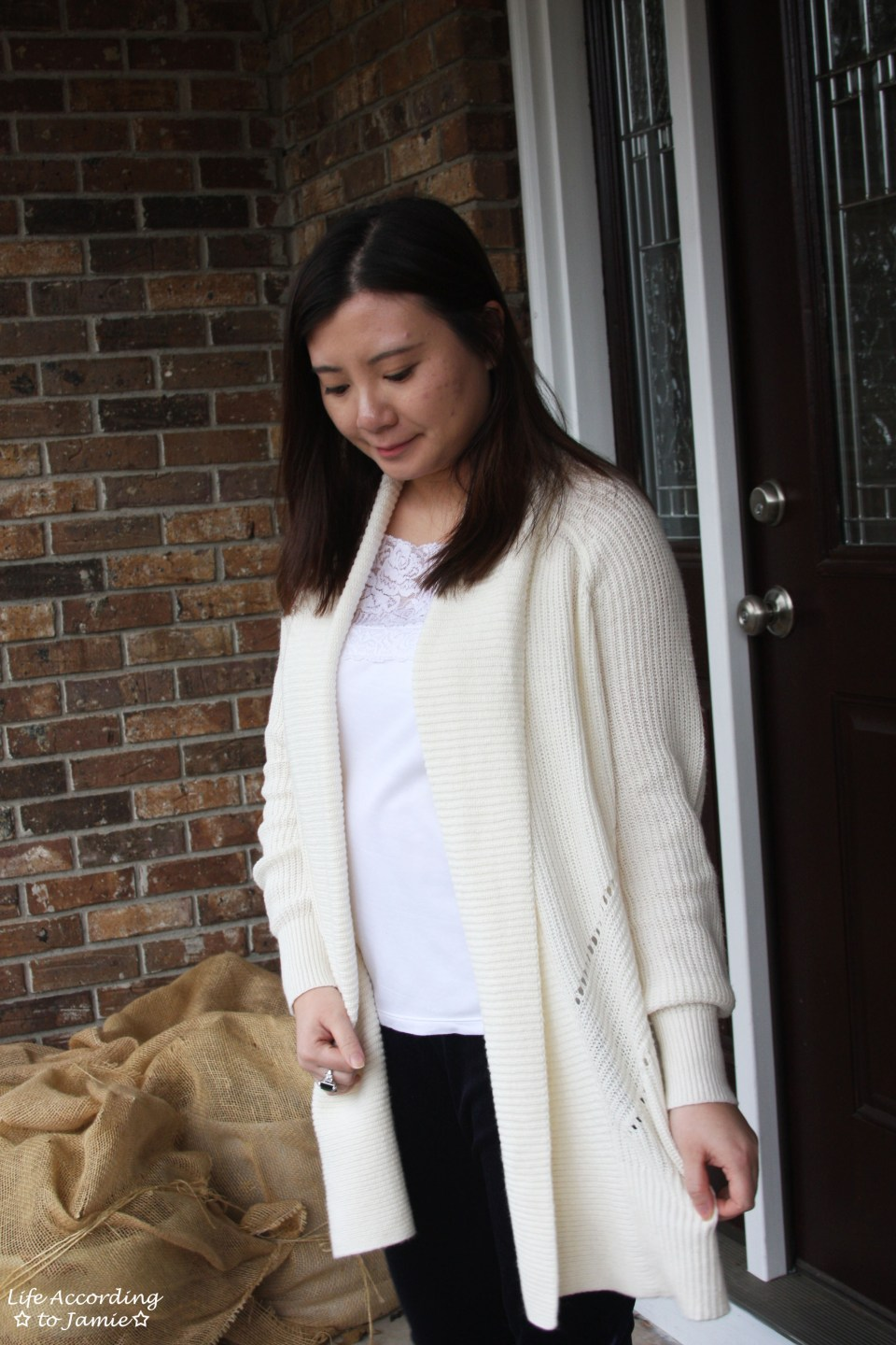 Pointelle Open Cardigan 7