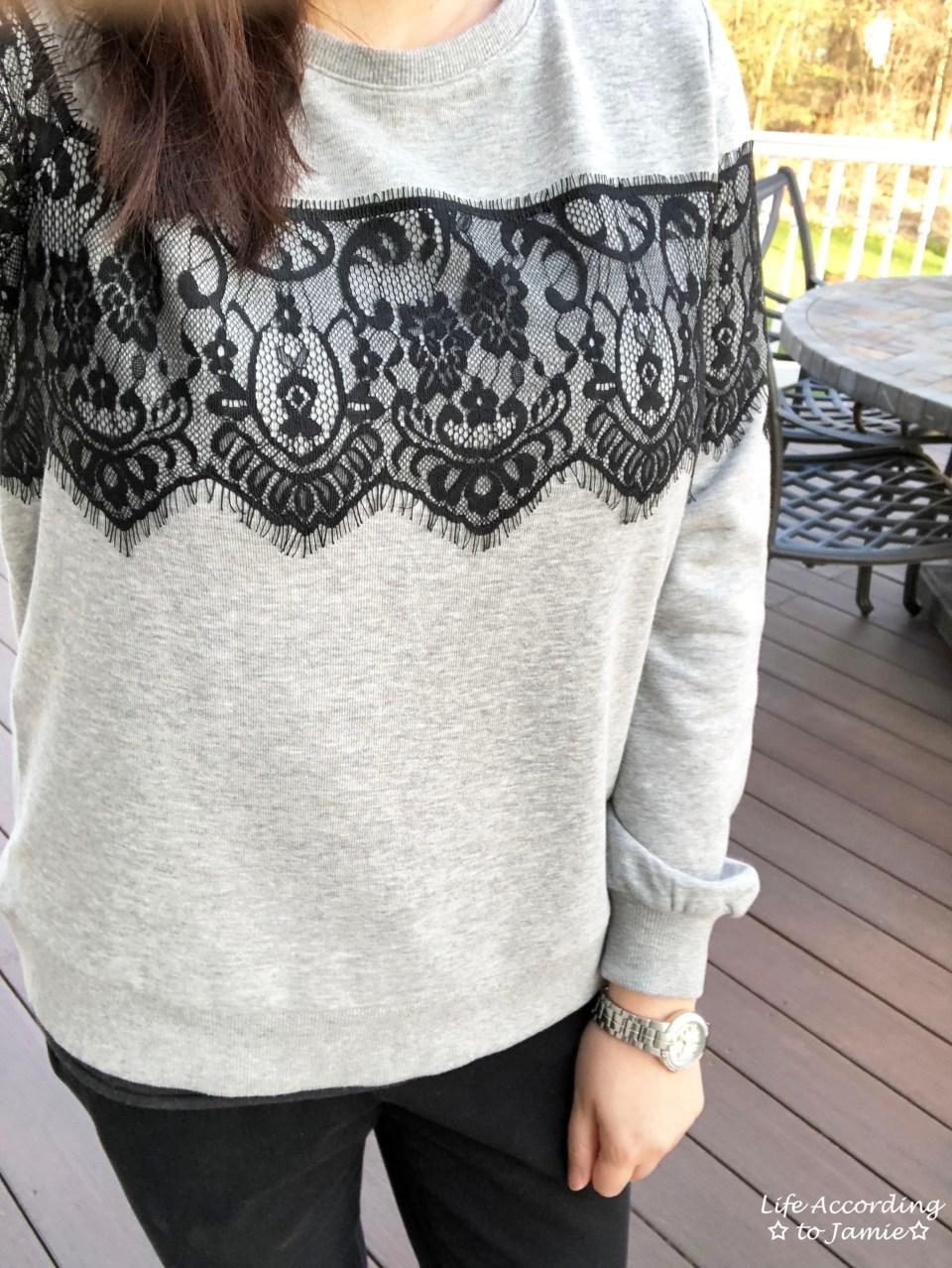 Black Lace Sweatshirt 1