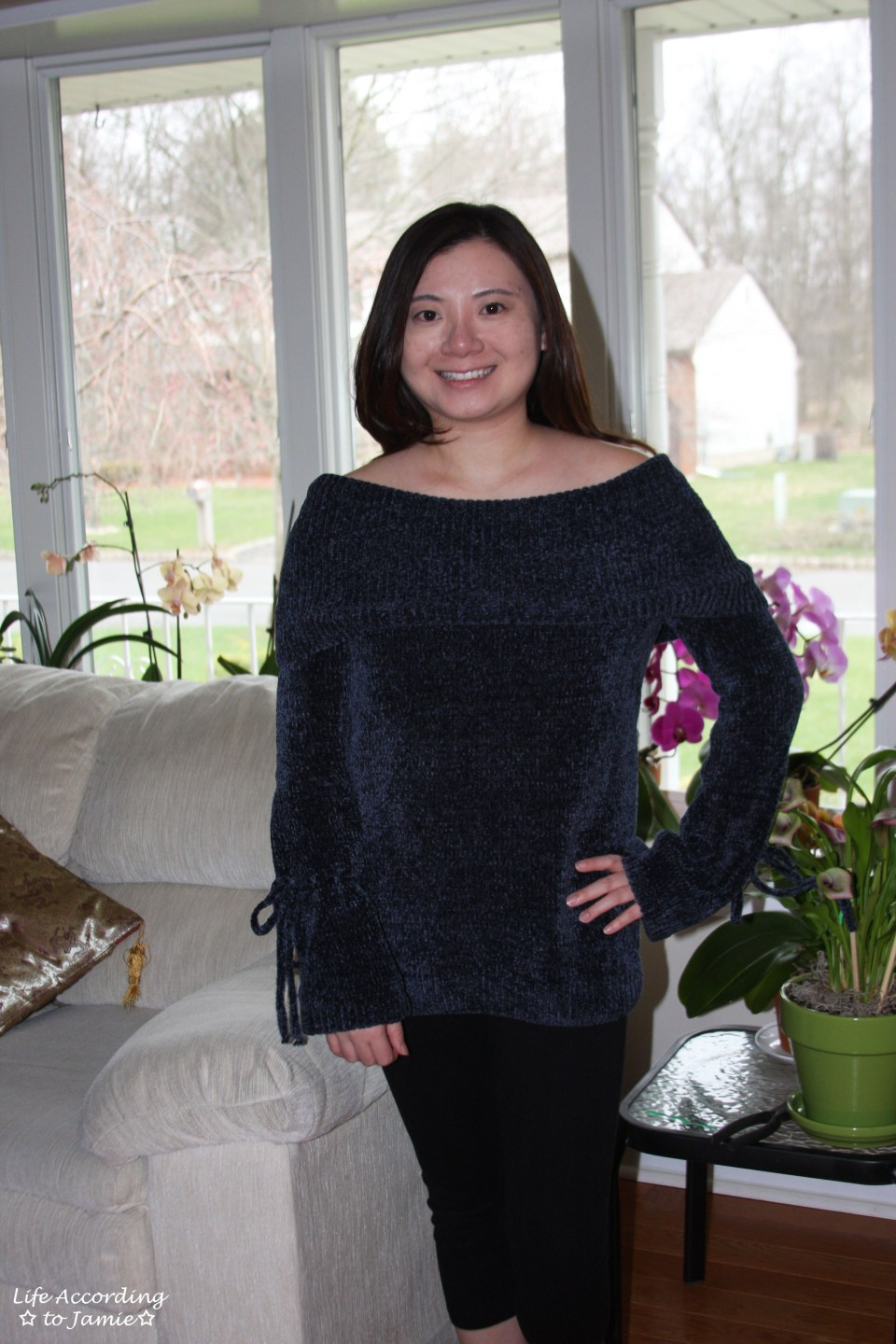 Chenille Off the Shoulder 1
