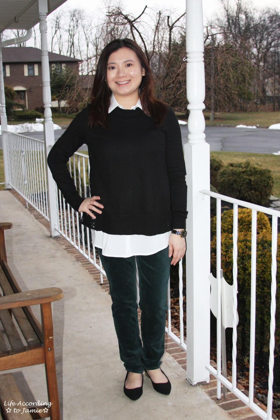 Collared Lace Back Sweater 9