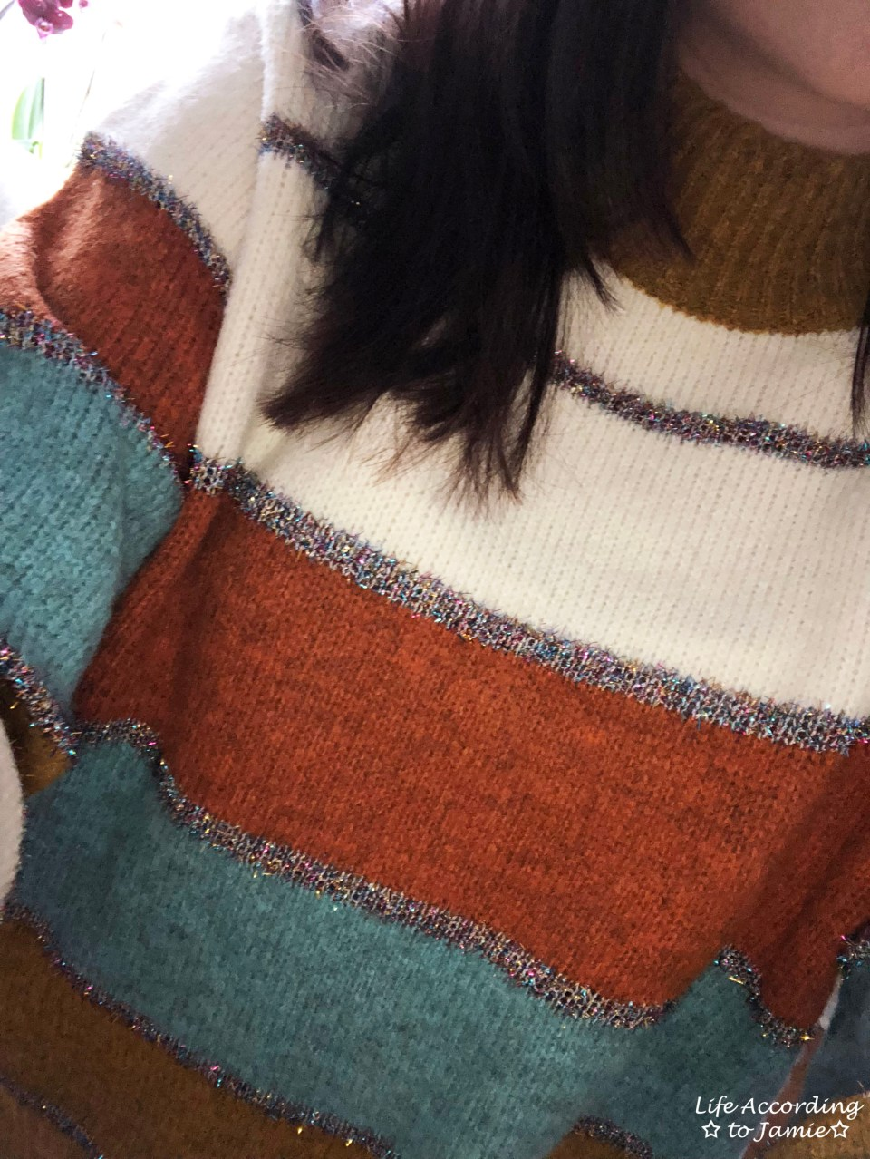 Color Block Tinsel Stripe