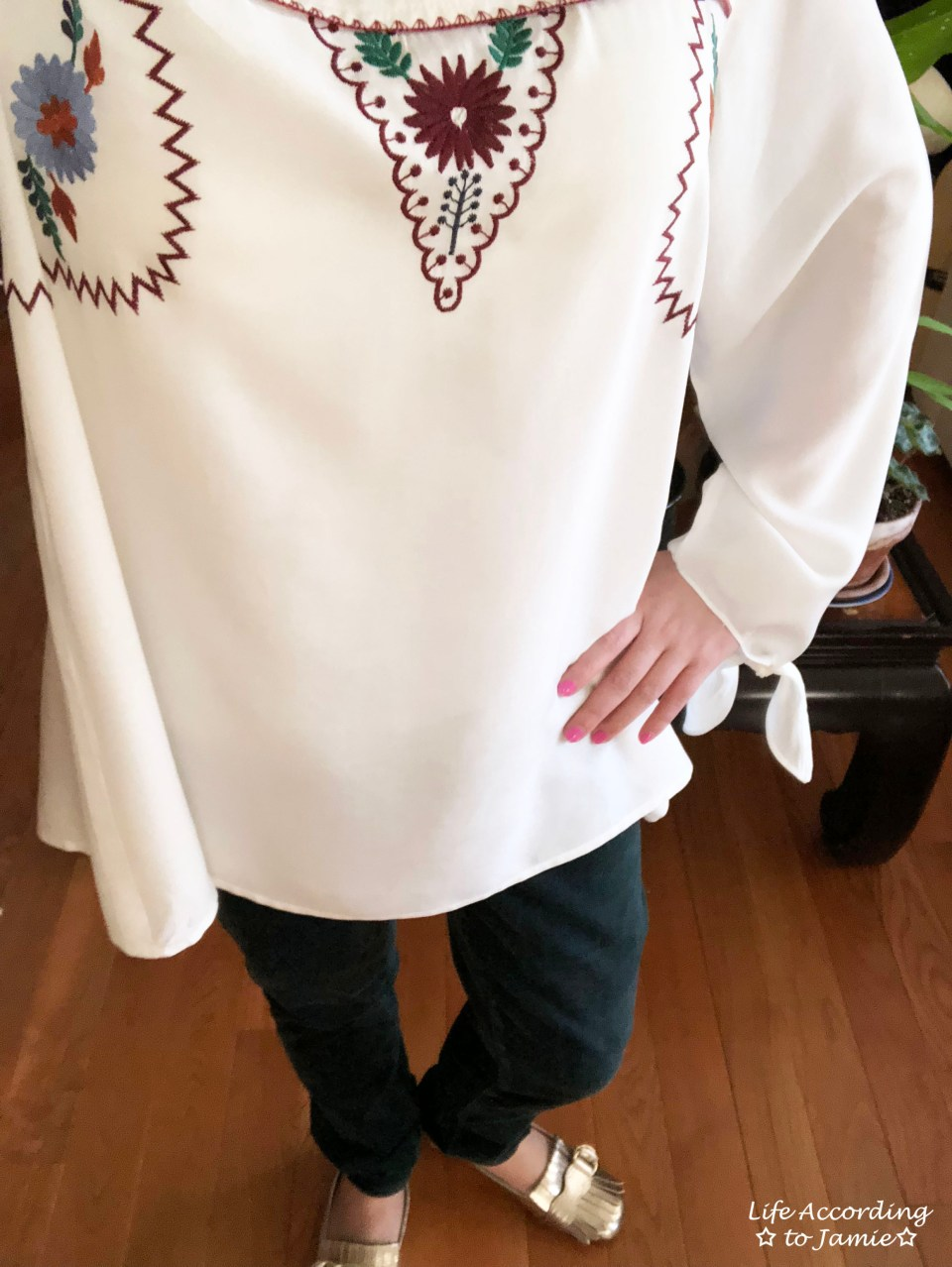 Embroidered Boho Top 2