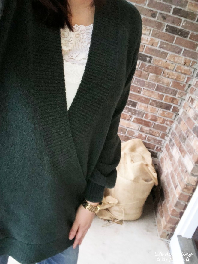 Green Wrap Front Tunic 1