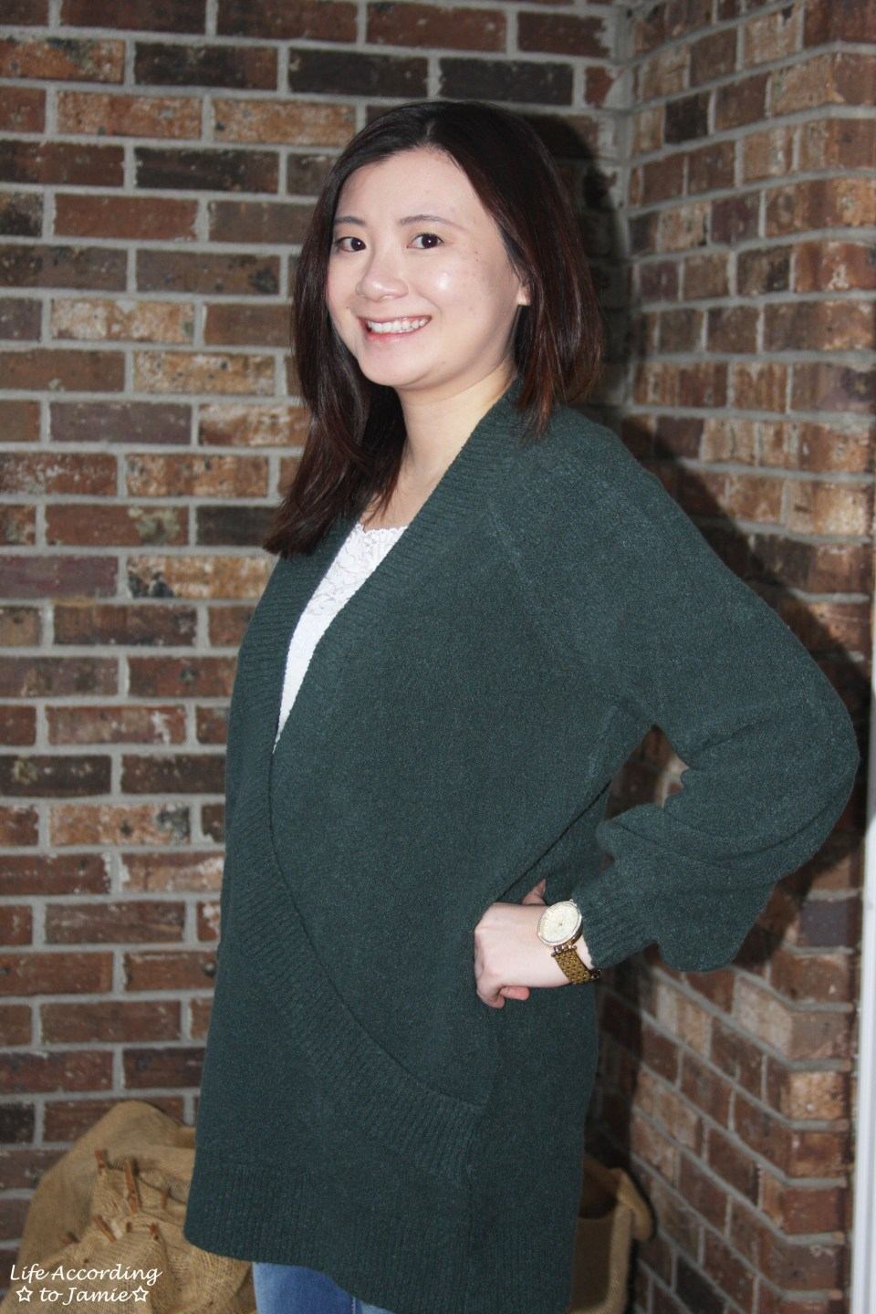 Green Wrap Front Tunic 3