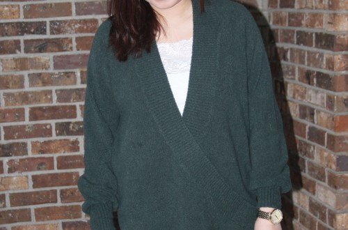 Green Wrap Front Tunic