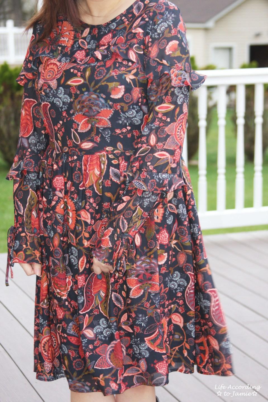 Navy Hydrangea Bouquet Dress 7