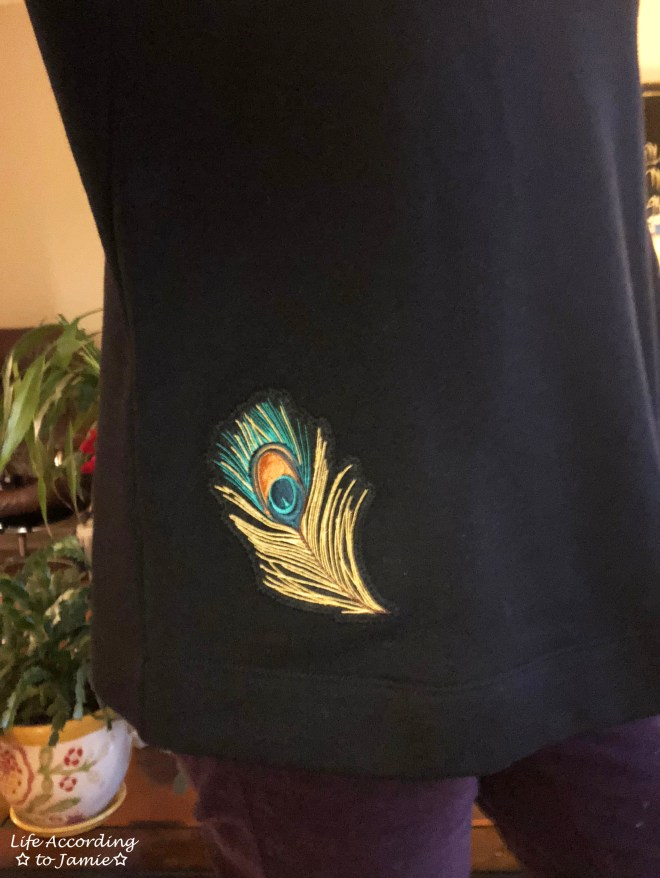 Peacock Feather Bell Sleeve 1