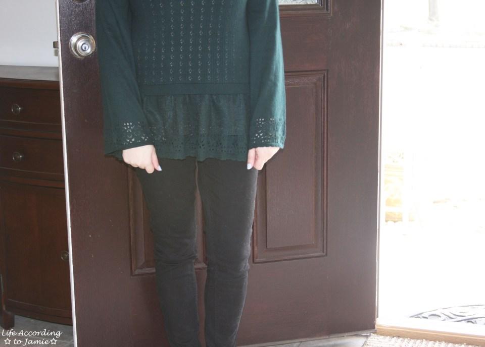 Pointelle Babydoll Sweater 3