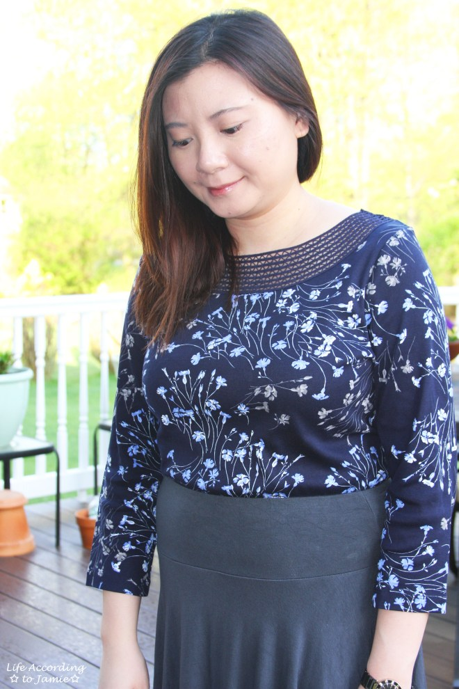 Crochet Topped Floral Top 1