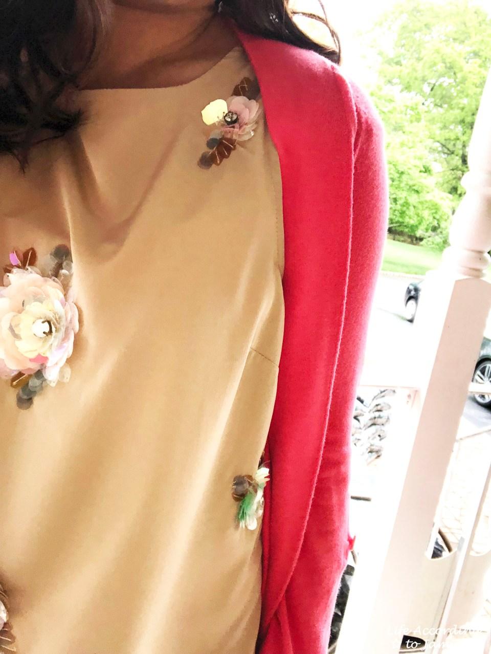 Floral Paillette Embellished Top 2
