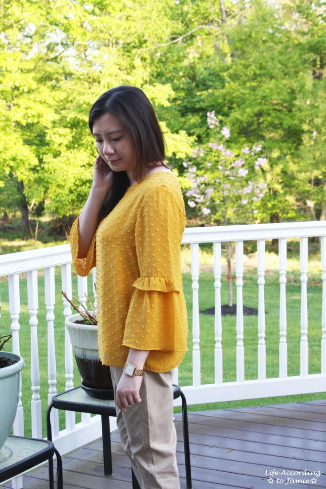 French Knot Mustard Blouse 11