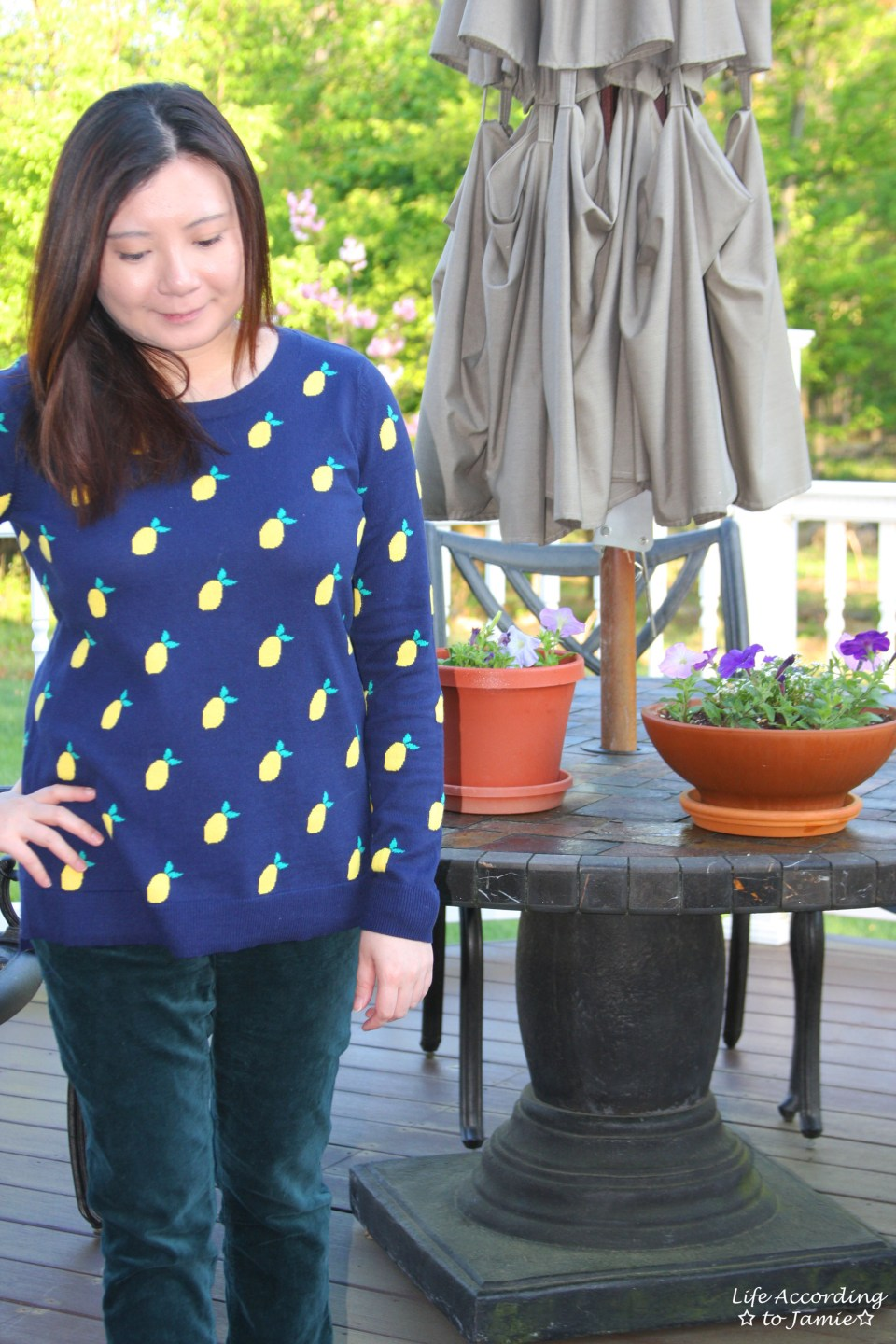 Lemon Print Sweater 6