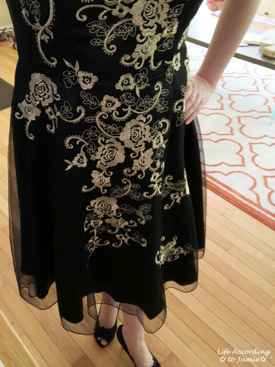 Metallic Flower Illusion Dress 12