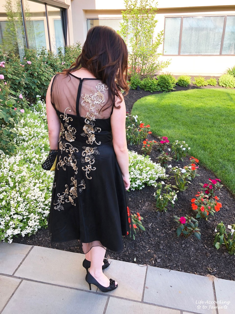 Metallic Flower Illusion Dress 6