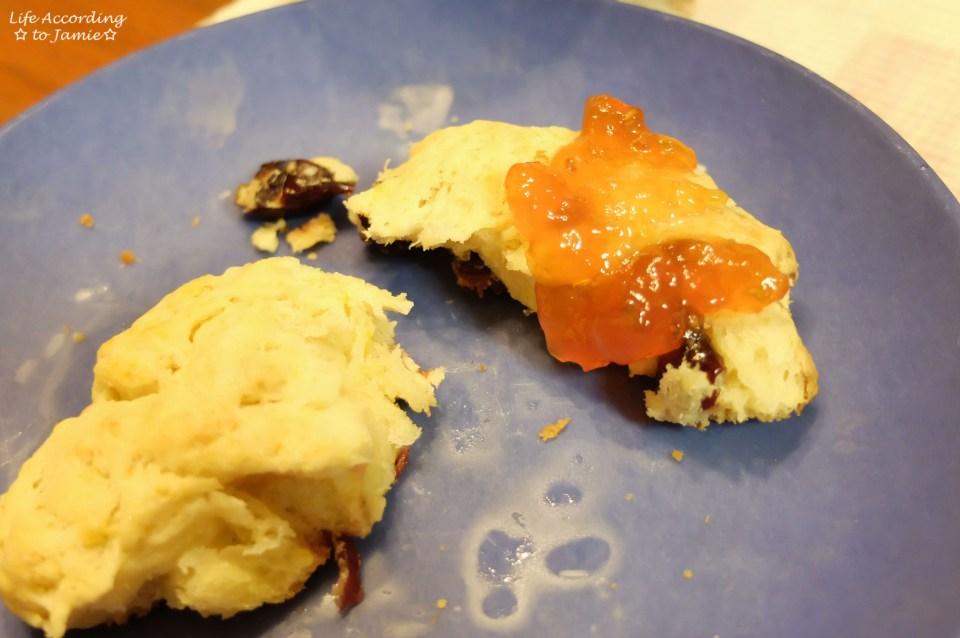Orange Cranberry Scone + Jam