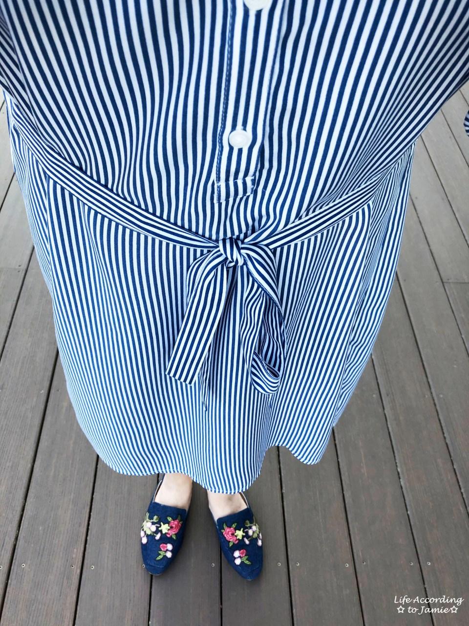 Pinstripe Shirt Dress 2