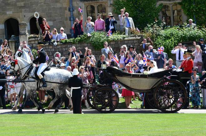 Prince Harry & Meghan Markle - Carriage Ride 1