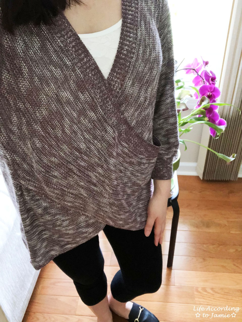 Wrap Front Sweater 1