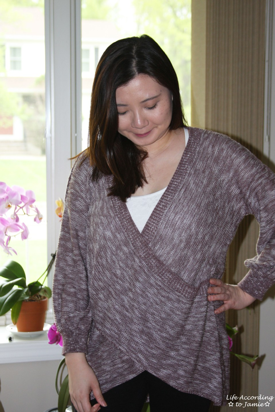 Wrap Front Sweater 9