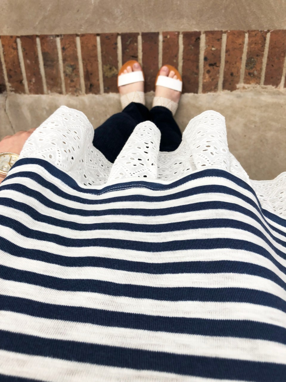 Blue Stripes + Eyelet Trim 13