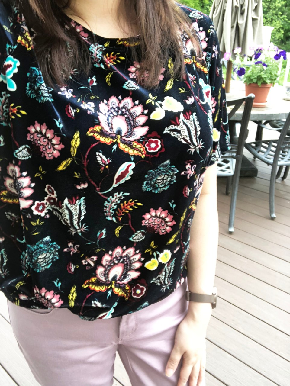 Floral Velvet Tee 13